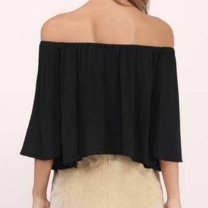 Tobi black off the shoulder blouse